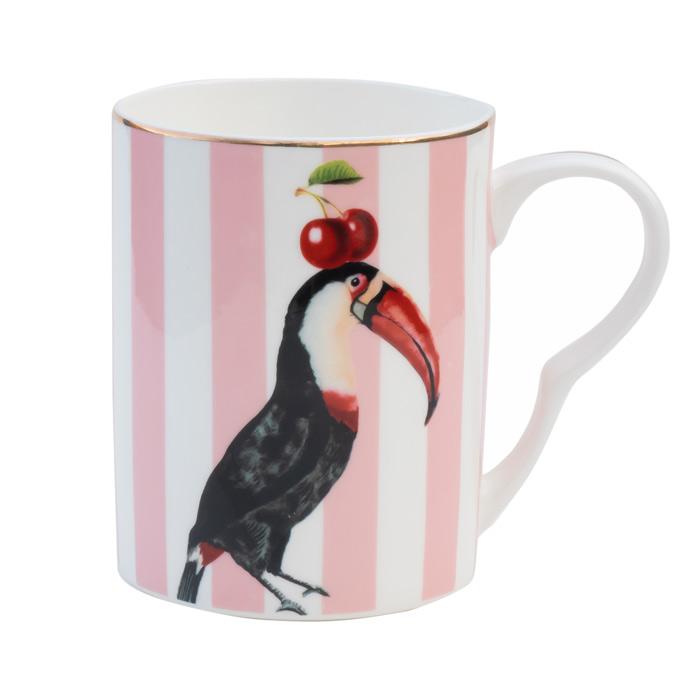 Toucan Pink Stripes Mug - Buy Online UK