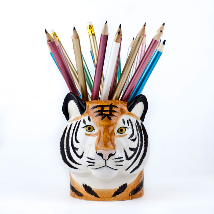 Tiger Pen Pot - Buy Online UK