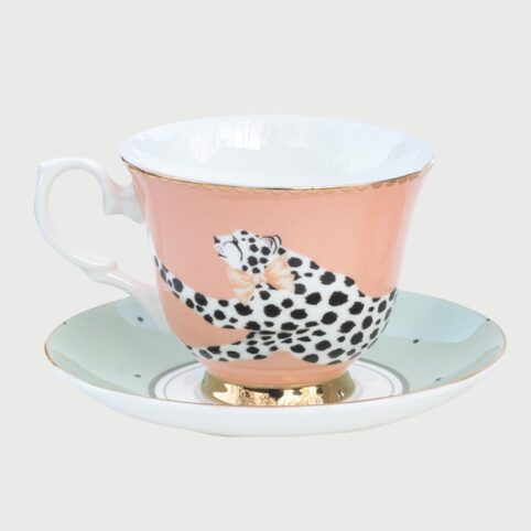 #EAEAEYvonne Ellen Cheetah Cup and Saucer8