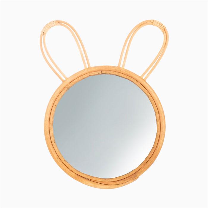 Bunny Rattan Round Mirror - Buy Online UK