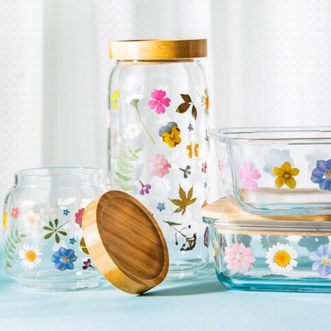 Decorative Glass Storage Jar - Buy Online UK