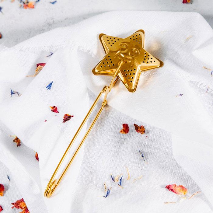 Star Shaped Gold Tea Infuser - Buy Online UK