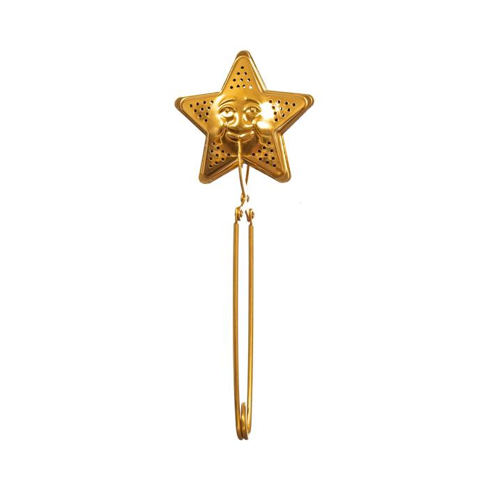 Gold Tea Strainer Star Design - Buy Online UK