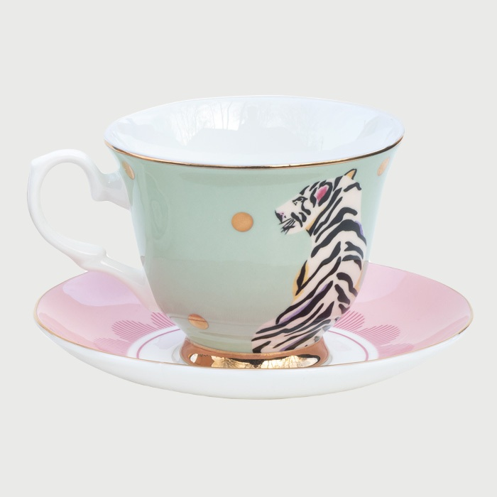 Yvonne Ellen Tiger Cup and Saucer