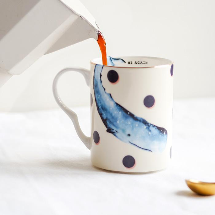 Blue Whale Mug Yvonne Ellen - Buy Online UK