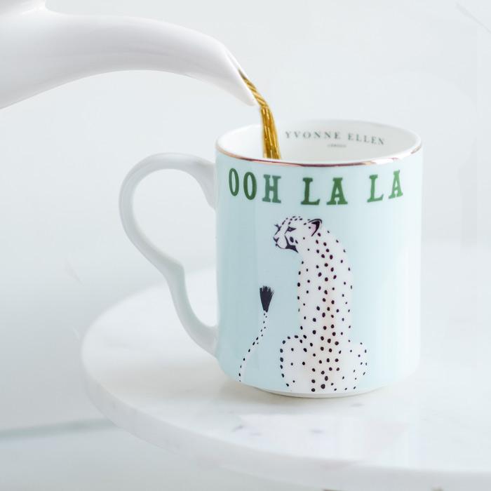 Yvonne Ellen Tableware Cheetah Mug - Buy online UK