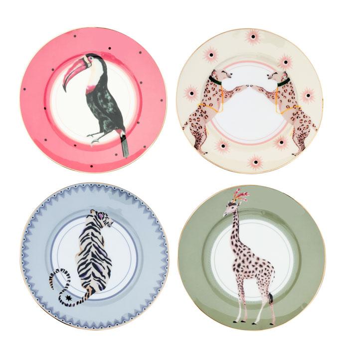 Animal Plates Set of 4 - Buy Online UK