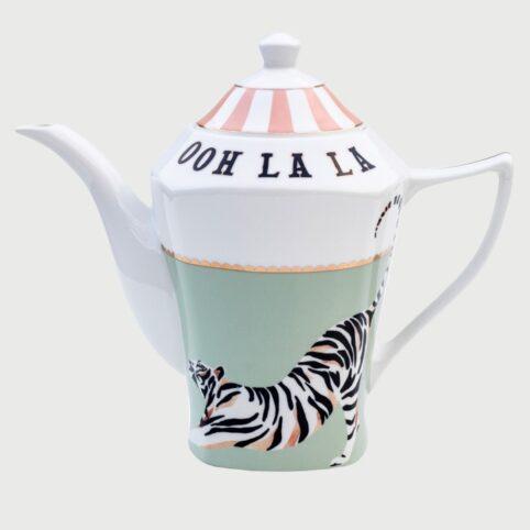 Yvonne Ellen Teapot - Ooh La La Tiger Design