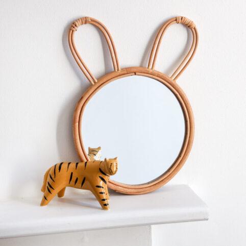 Bunny Rattan Mirror - Buy Online UK
