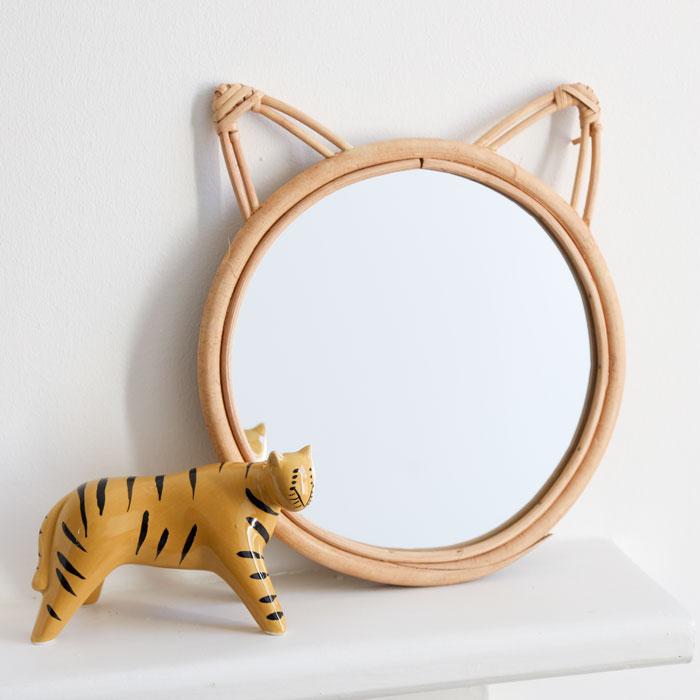 Rattan Cat Mirror Sass & Belle - Buy online UK