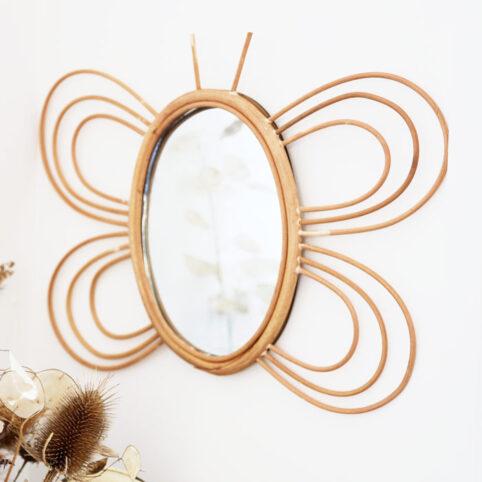 Butterfly Mirror Rattan - Buy Online UK