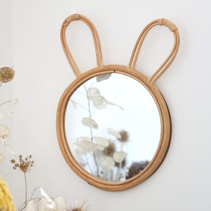 Rattan Bunny Mirror - Buy online UK