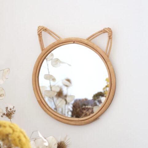 Cat Rattan Mirror - Buy Online UK