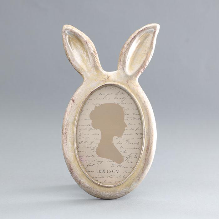 Silver Rabbit Ears Photo Frame - Buy Online UK