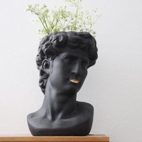 Black Bust Statue Planter - Buy Online UK