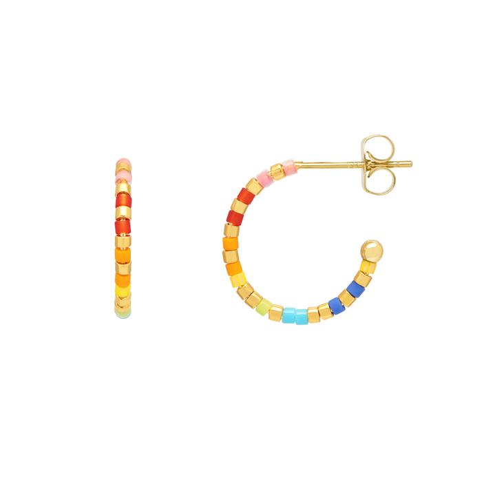 Colourful Beaded Hoops - Buy online UK