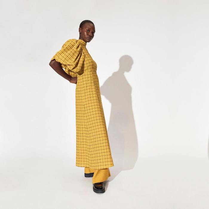 Short Oversized Sleeves Dress - Buy Online UK