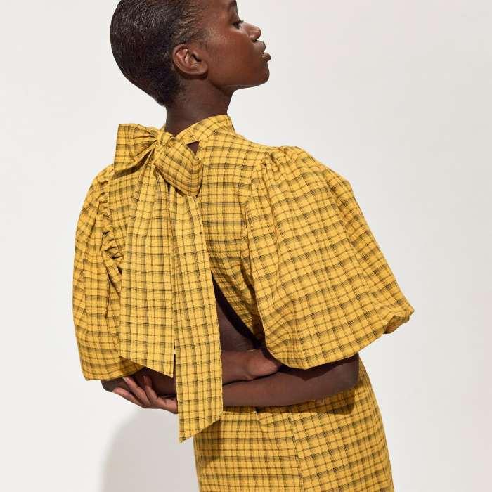 Selected Femme Check Maxi Dress - Buy Online UK