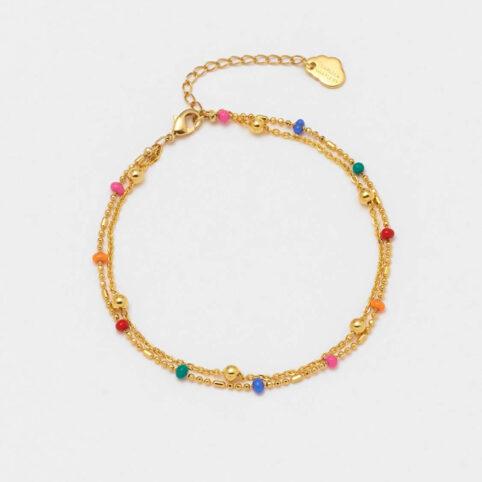 Rainbow Bead Bracelet - Buy Online UK