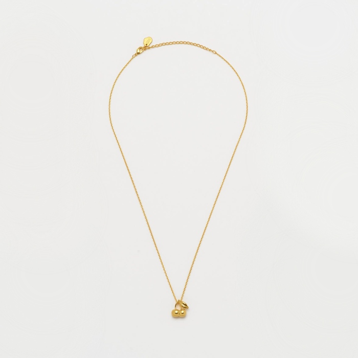 Gold Cherries Pendant Necklace - Estella Bartlett