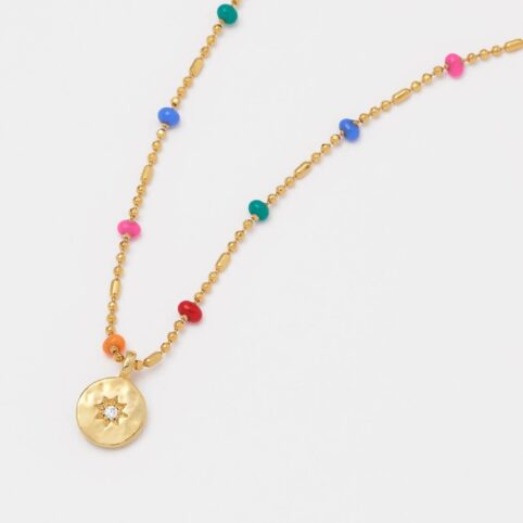 Estella Bartlett - Colourful Beaded Necklace With Star Pendant