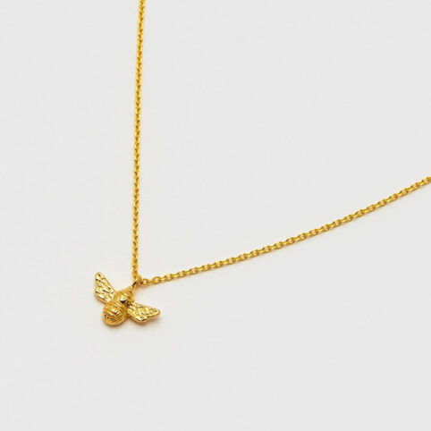 Gold Plated Bee Necklace - Buy Online UK
