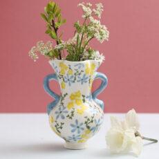 Klevering Floral Print Medium Vase - For Sale Online With Free UK Delivery