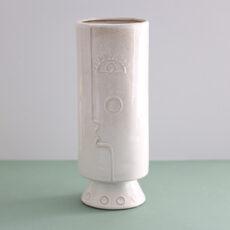 Tall Cylinder Face Vase - Buy Online UK