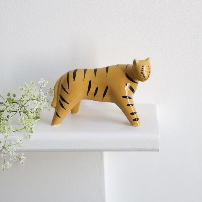 Ceramic Tiger Ornament - Gisela Graham