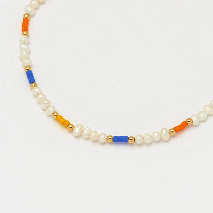 Pearl and Pop Colour Beaded Bracelet - Buy Online UK