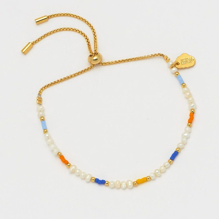 Pearl and Colour Pop Beaded Bracelet - Buy Online UK