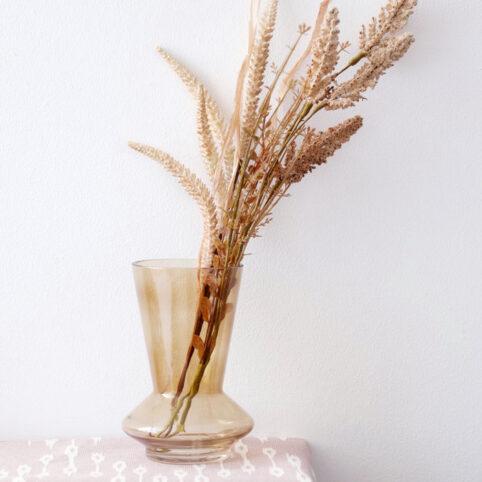 Smokey Brown Glass Vase Present Time - Buy Online UK