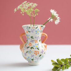 Klevering Floral Print Small Vase - Buy Online With Free UK Delivery Over £20