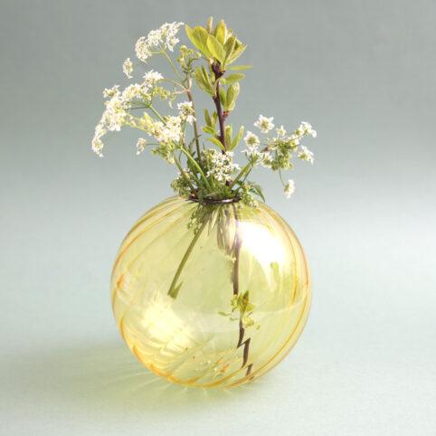 Klevering Yellow Spiral Vase