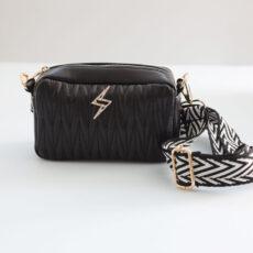 Black Vegan Leather Cross Body Bag - Buy online UK