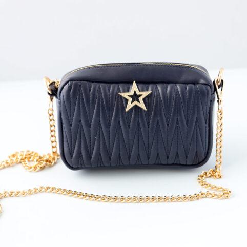 Small Navy Vegan Leather Cross body Bag - Buy Online UK