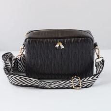 Vegan Leather Quilted Crossbody Bag - Buy Online UK