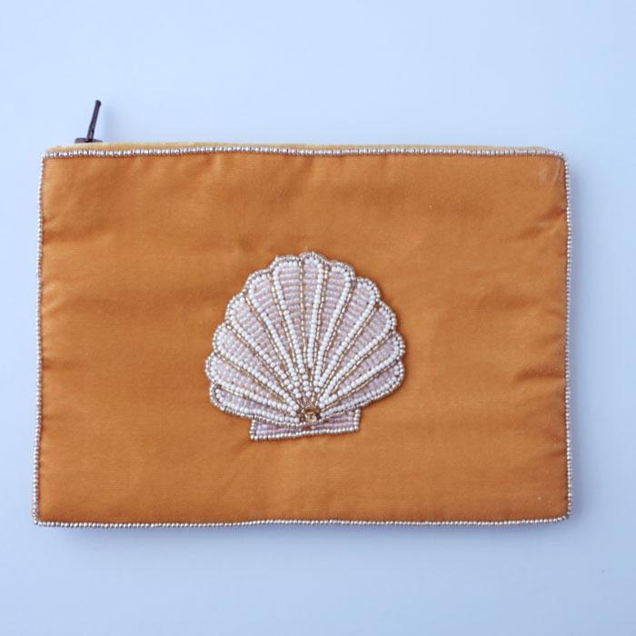 My Doris Beaded Seashell Pouch
