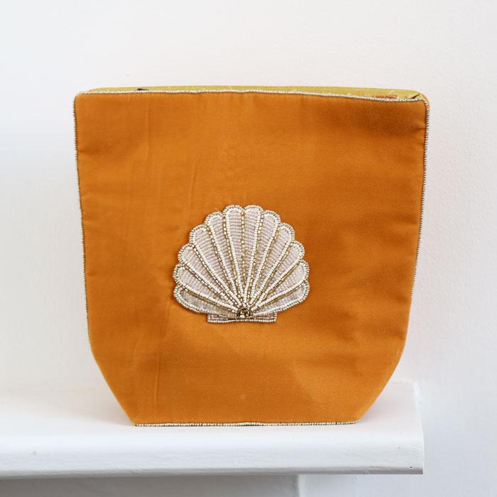 Seashell Velvet Large Makeup Bag - Buy Online UK