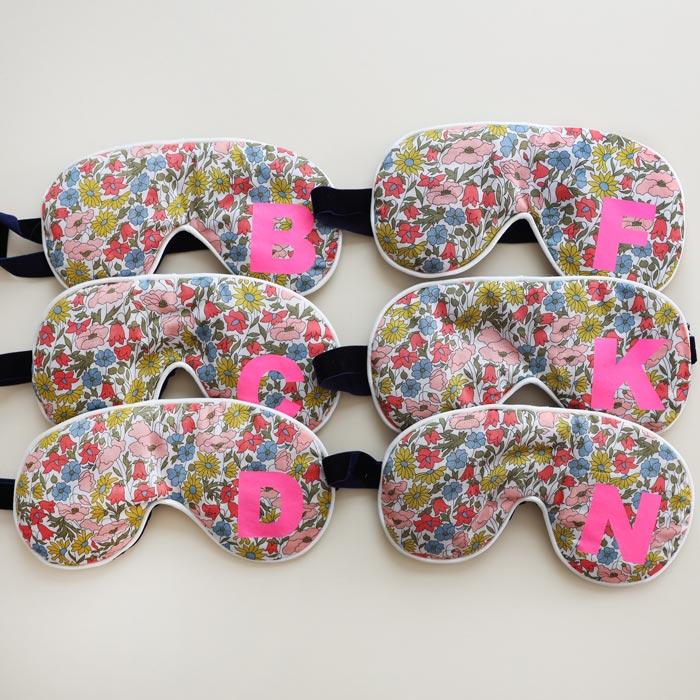 Floral Initial Eye Mask - Buy Online uK