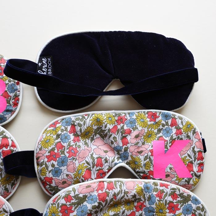 Initial Floral Liberty Print Sleep Mask - Buy Online UK