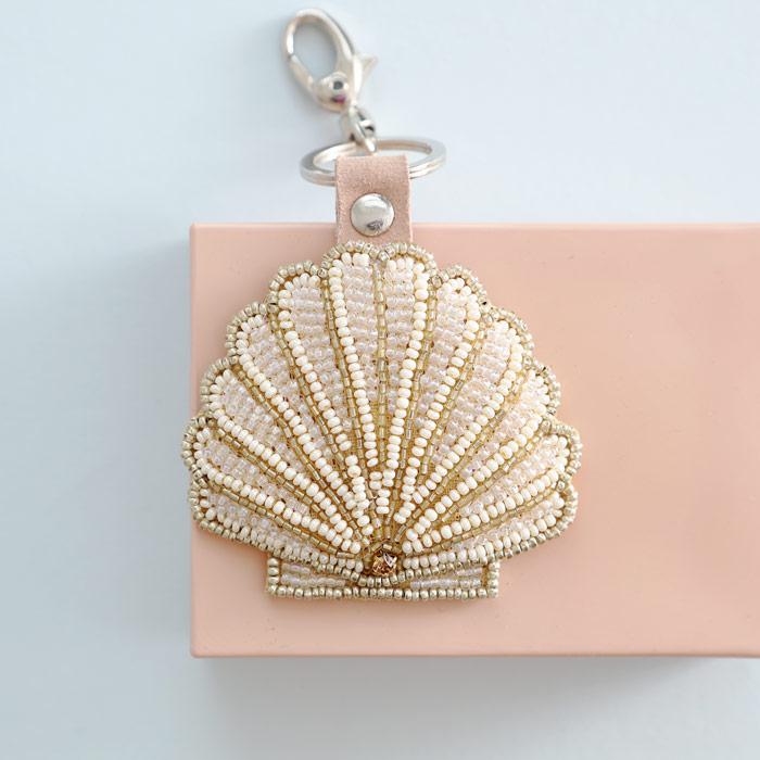 My Doris Hand Beaded Shell Keyring - Buy Online UK
