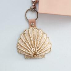 Embroidery Seashell Keyring - Buy online UK