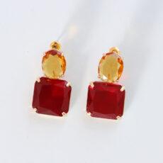 Multicoloured Faux Gemstones Earrings - Buy Online UK