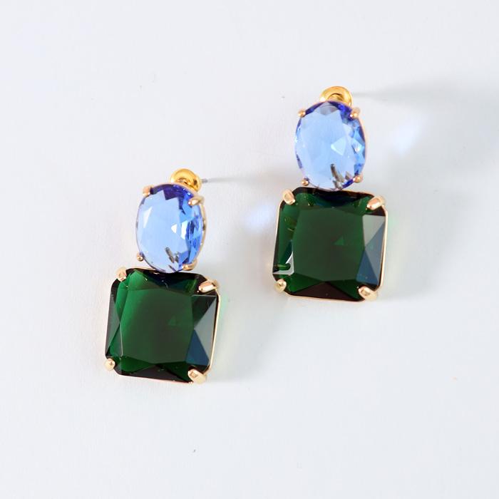 Multicoloured stone Drop Earrings - Buy Online UK