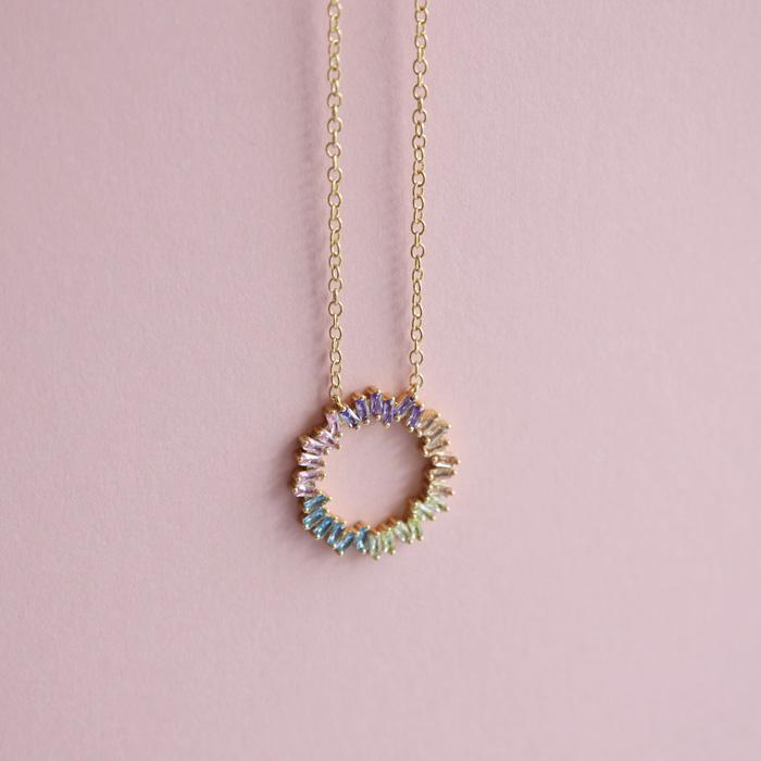 Multicolour Crystal Necklace