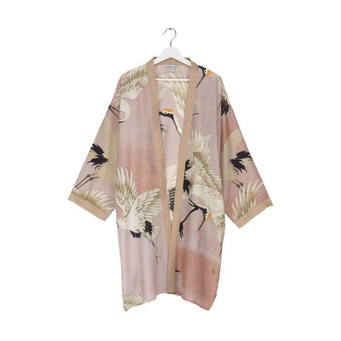 One Hundred Stars Collar Kimono - Pink. Our best-selling print recoloured for S/S buy online with free delivery