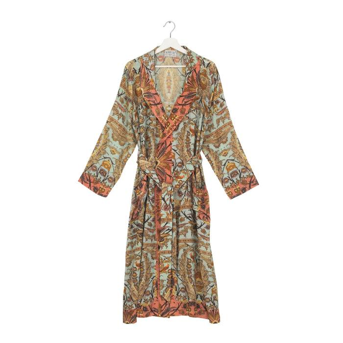 Dressing Gown One Hundred Stars - Decadent Aqua. Purchase Online With Free UK Delivery