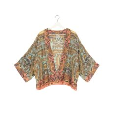 One Hundred Stars Kimono - Decadent Aqua. Our Best-Selling shape buy online with free UK delivery