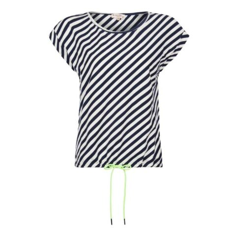 Nooki Navy stripe Top With Yellow Neon Tie. Buy Online With Free UK Delivery Over £20